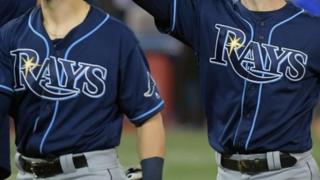 Tampa Bay Rays players. File photo