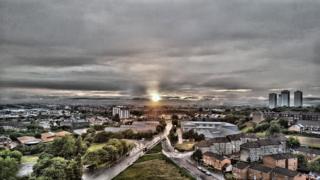 Sunset in Glasgow