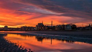 Sunrise over Portobello, Edinburgh