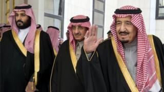 Donald Trump Mohammed Bin Salman(left), Mohammed Bin Nayef (centre), and King Salman (file photo)