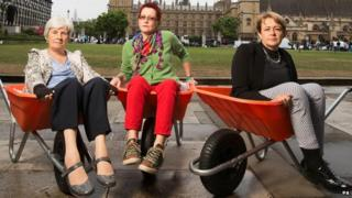 (Left to right) Dr Jean Waters, former anaesthetist, Fiona Carey, patient leader, and Baroness Tanni Grey-Thompson launch the Wheelchair Leadership Alliance Right Chair Right Time Right Now campaign