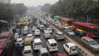 Traffic jam, Delhi, 4 Jan