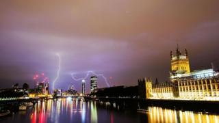 Lightning at Parliament
