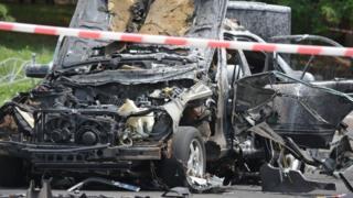 Резонансні вбивства в Україні останнім часом пов'язані з вибухами автомобілів або розстрілами. На фото - машина полковника розвідки Максима Шаповала