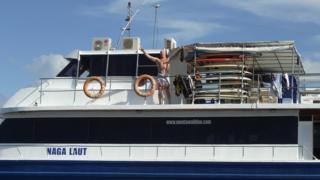 Brett on the boat
