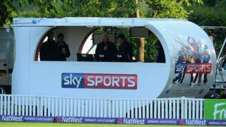Sky Sports broadcasting cabin