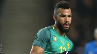 Eric Choupo-Moting a ouvert le score du match Cameroun-Comores, à Yaoundé.