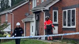 The fire happened at a house in Heckmondwike, Kirklees