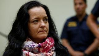 Beate Zschäpe in court on 11 July