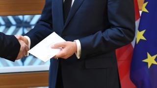 Donald Tusk receives letter