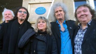 Neil Murray, Tony Iommi, Suzi Quatro, Brian May & Bernie Marsden