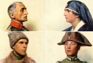 WW1 portraits by Swiss artist, Eugene Burnand
