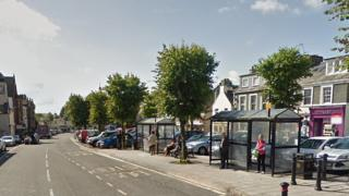 Bus stop in Moffat