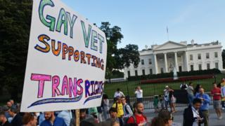 Transgender allies outside the White House