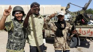 Forces loyal to Libya's Government of National Accord (GNA) in Tripoli