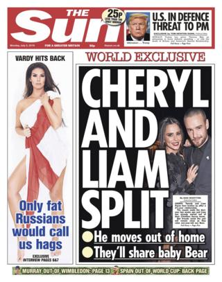 Sun front page - 02/07/18