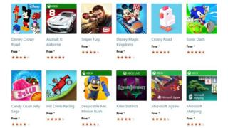 The most popular PC games currently on the Windows Store.
