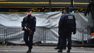 Armed police after Paris attack