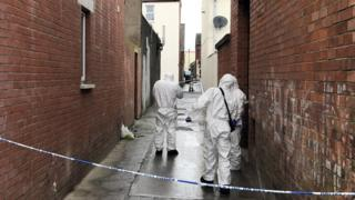 The boy was discovered in an alleyway between Castlereagh Parade and Glenvarlock Street