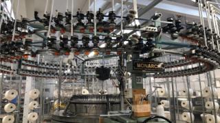 A circular knitting machine