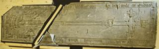The grave slab of Robert de Markham