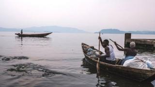 Fisherman on Lake Kivu in Goma.