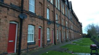 The former weavers' cottages on Cash's Lane in Coventry
