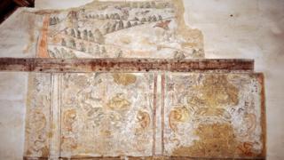 17th Century mural, Madingley Hall