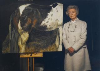 Duchess of Devonshire and a painting of a horse