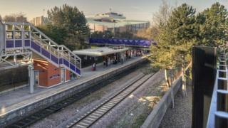 Salford Crescent railway station