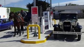 The new petrol station in Pongaroa