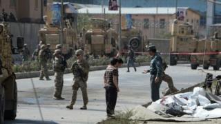 Afganistan'ın başkenti Kabil'de saldırının düzenlendiği bölge