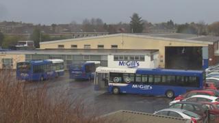 McGill's bus yard in Johnstone