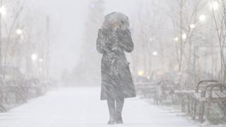 Snowstorm in Moscow, 8 Jan 18