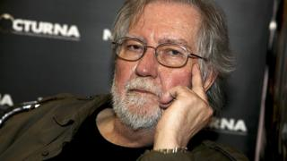 A handout photo shows US filmmaker Tobe Hooper during an interview in Madrid, Spain, in 2014