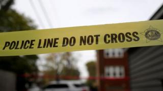 Police tape in Chicago