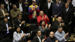 Members of Venezuela's Socialist Party