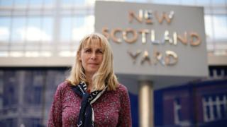 Pc Elizabeth Kenworthy outside New Scotland Yard