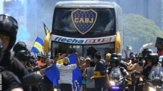 Boca Juniors micro.