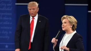 Donald Trump na Hillary Clinton