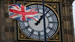 Union flag and Big Ben