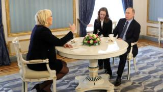 зустріч Володимира Путіна з Марін Ле Пен