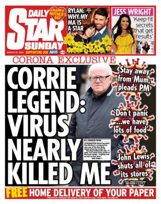 Sunday Star front page
