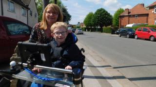 Josh Higginbottom and mum Sharon Davis