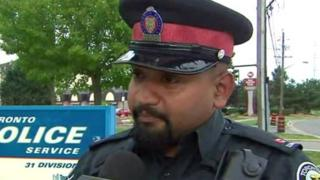 Constable Niran Jeyanesan pictured in an interview