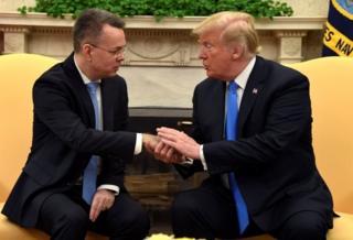 Amerikalı Pastör Andrew Brunson ve ABD Başkanı Donald Trump