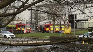 Fire fighters at Swindon's Honda factory