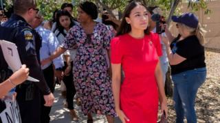 Alexandria Ocasio-Cortez visiting Border Patrol facilities in Texas