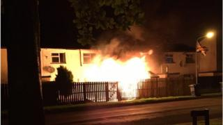 The fire broke out at the house in Parkmore, Craigavon, in the early hours of Thursday morning