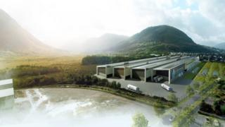 Artist's impression of planned factory
